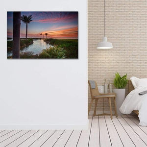 Sunset in the Palms - Bed Room Metal Wall Art Print