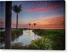 Load image into Gallery viewer, Sunset In The Palms - Canvas Print - Santa Cruz Art Prints