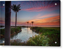 Load image into Gallery viewer, Sunset In The Palms - Acrylic Print - Santa Cruz Art Prints