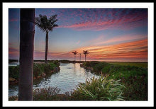 Load image into Gallery viewer, Sunset In The Palms - Framed Print - Santa Cruz Art Prints