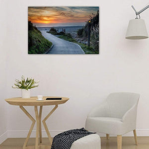 Sunset On The Beach - Art Print - Santa Cruz Art Prints