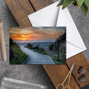 Sunset On The Beach - Greeting Card - Santa Cruz Art Prints