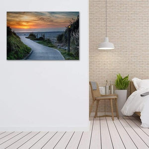 Sunset on the Beach - Bedroom Metal Wall Art Print