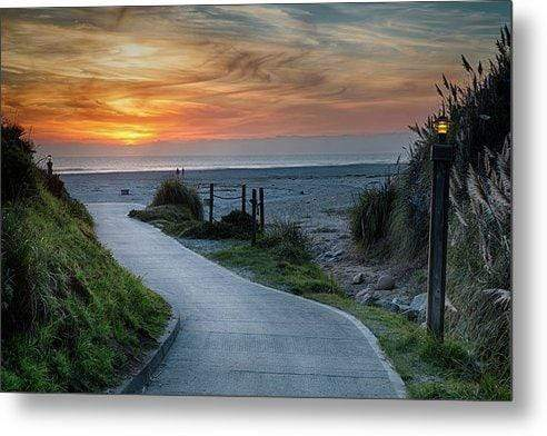 Sunset on the Beach - Metal Wall Art Print