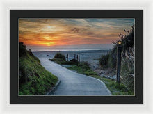 Load image into Gallery viewer, Sunset On The Beach - Framed Print - Santa Cruz Art Prints