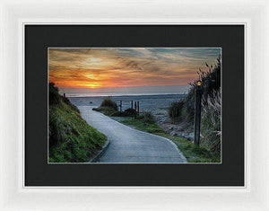 Sunset On The Beach - Framed Print - Santa Cruz Art Prints