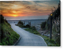 Load image into Gallery viewer, Sunset On The Beach - Acrylic Print - Santa Cruz Art Prints