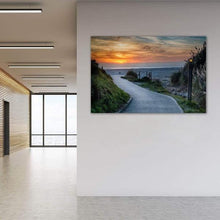 Load image into Gallery viewer, Sunset on the Beach - Office Metal Wall Art Print