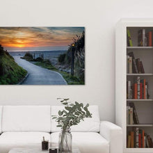 Load image into Gallery viewer, Sunset on the Beach - Library Metal Wall Art Print