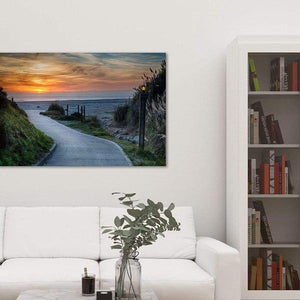 Sunset on the Beach - Library Metal Wall Art Print