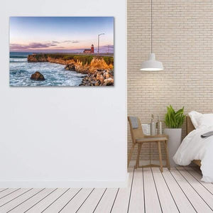 Surfing Museum at Sunrise - Bed Room Metal Wall Art Print