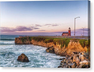 Surfing Museum At Sunrise - Canvas Print - Santa Cruz Art Prints