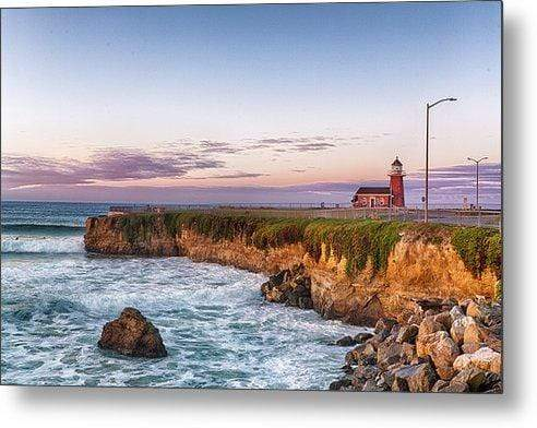 Surfing Museum at Sunrise - Metal Wall Art Print
