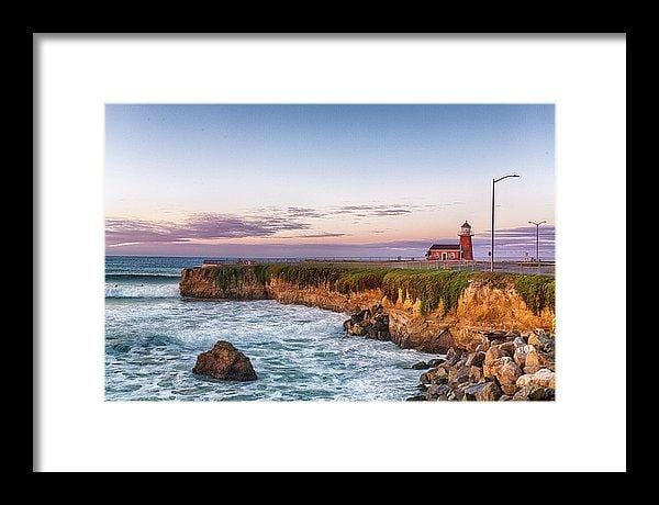 Surfing Museum At Sunrise - Framed Print - Santa Cruz Art Prints