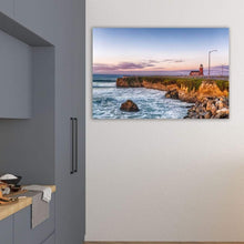 Load image into Gallery viewer, Surfing Museum At Sunrise - Art Print - Santa Cruz Art Prints