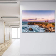 Load image into Gallery viewer, Surfing Museum at Sunrise - Office Metal Wall Art Print