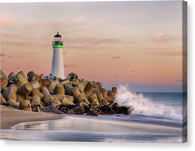 The Harbor Lighthouse - Canvas Print - Santa Cruz Art Prints