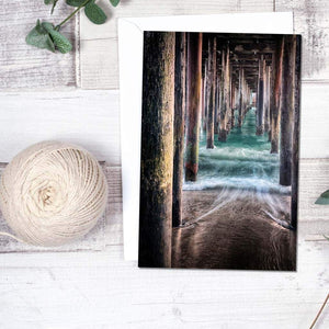 Under The Pier - Greeting Card - Santa Cruz Art Prints