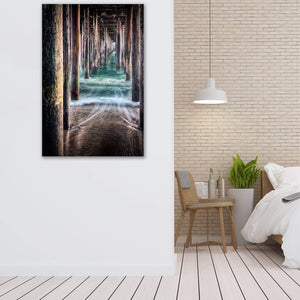 Under The Pier - Canvas Print - Santa Cruz Art Prints