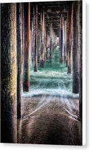 Load image into Gallery viewer, Under The Pier - Canvas Print - Santa Cruz Art Prints