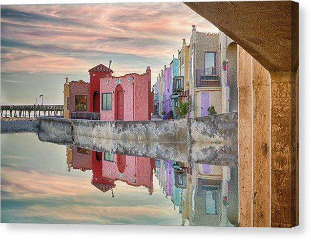 Venetian Reflections - Canvas Print - Santa Cruz Art Prints