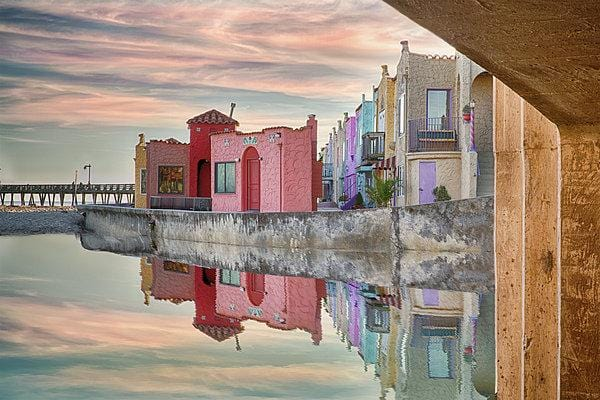 Venetian Reflections - Art Print - Santa Cruz Art Prints
