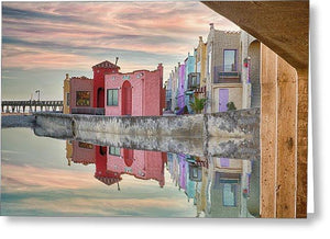Venetian Reflections - Greeting Card - Santa Cruz Art Prints