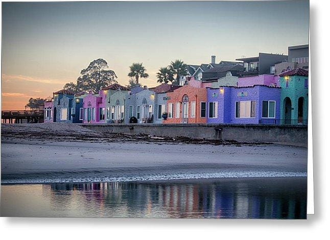 Venetians At Dusk  - Greeting Card - Santa Cruz Art Prints