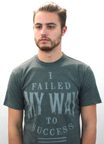 I Failed My Way To Success Short Sleeve Crew Neck - Black & Denim Apparel Company