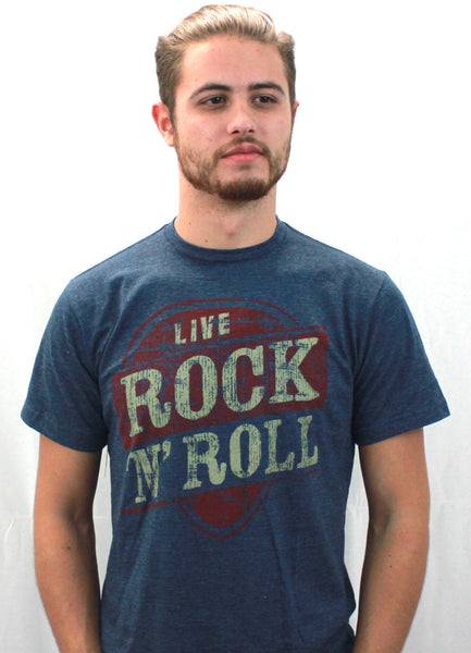 Rock & Roll Short Sleeve Crew Neck - Black & Denim Apparel Company