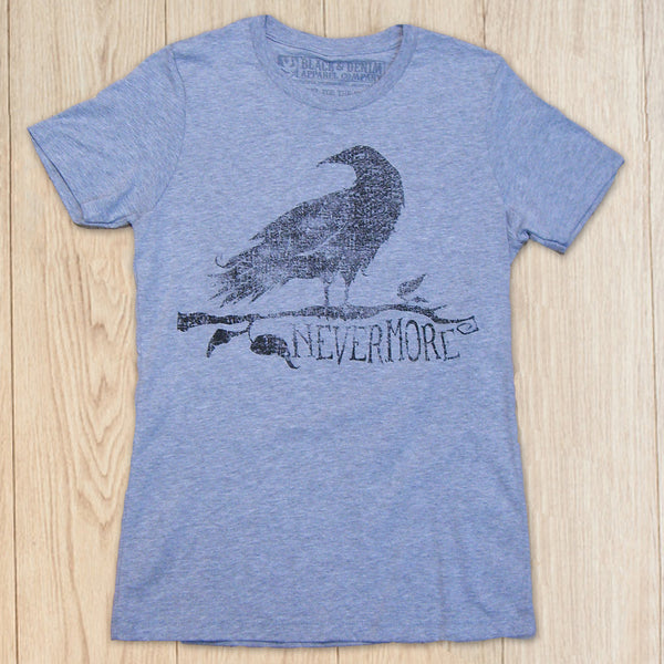 The Raven Short Sleeve Crew Neck - Black & Denim Apparel Company