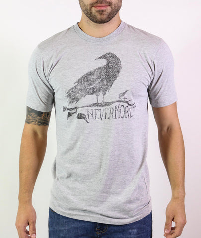 Nevermore Raven Short Sleeve Men's Crew Neck