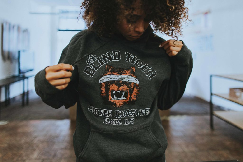 *Vintage* Blind Tiger Coffee Roasters Unisex Hoodie