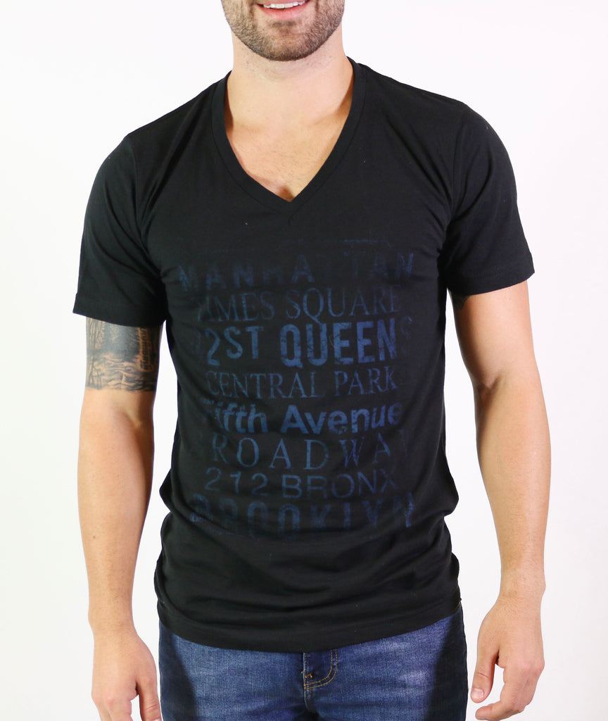 Take The Tour Men's Short Sleeve V-Neck