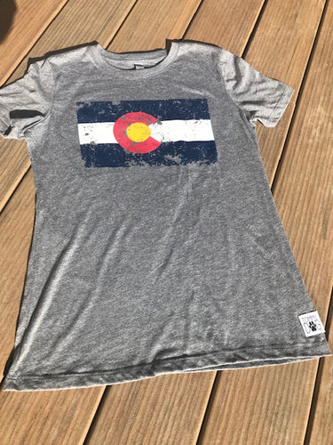 Human Tee - Distressed Colorado Flag