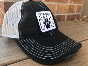 Hat - Tommy Dog Distressed Trucker Hat
