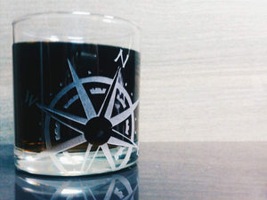 Compass Rose Whiskey Glass