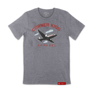 Crewneck Tee For Men in Grey Front
