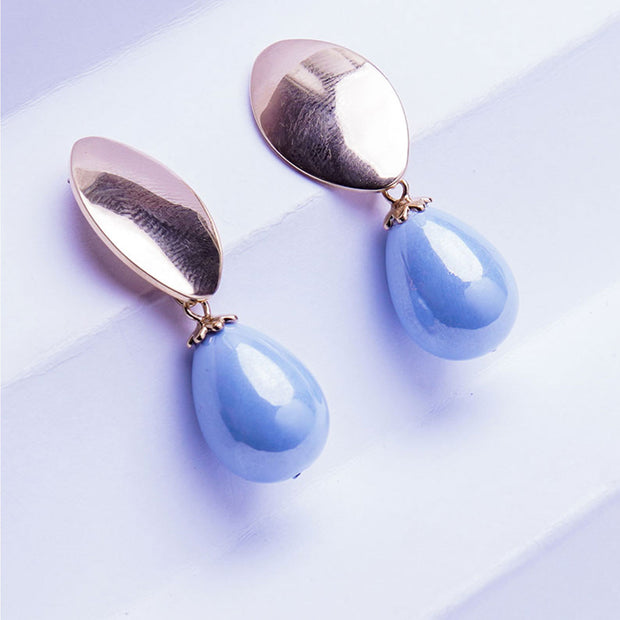 AQUAMARINE DROP EARRINGS ER-96