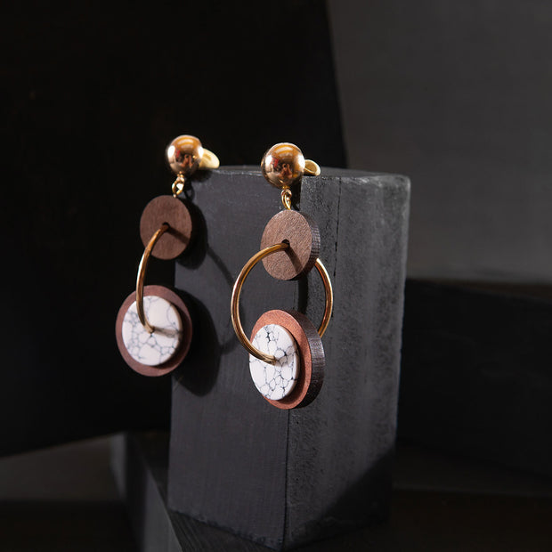 Round On Round Earrings ER-159
