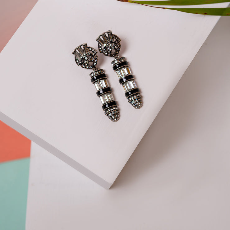 Black Trend Earrings ER-141