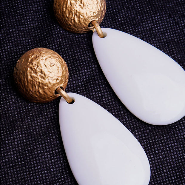 WATERDROP STATEMENT EARRINGS ER-122