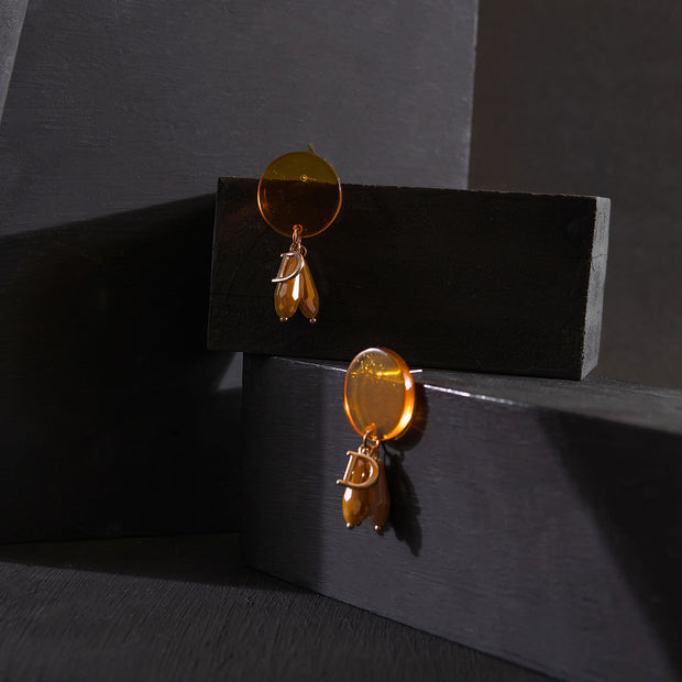 Crystal Orange Earrings ER-151
