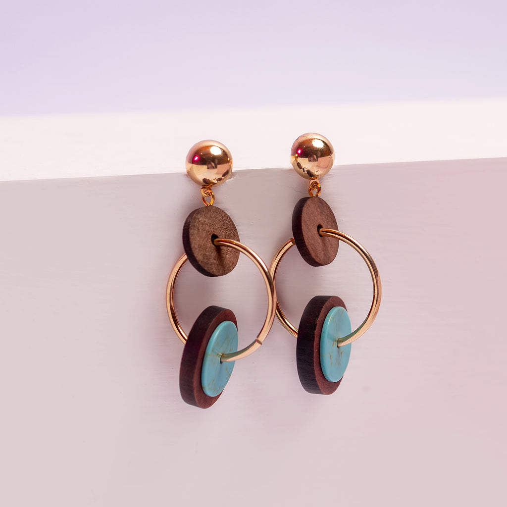 Round In Round Earrings ER-158