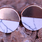 HALF MARBLE EARRINGS ER-129