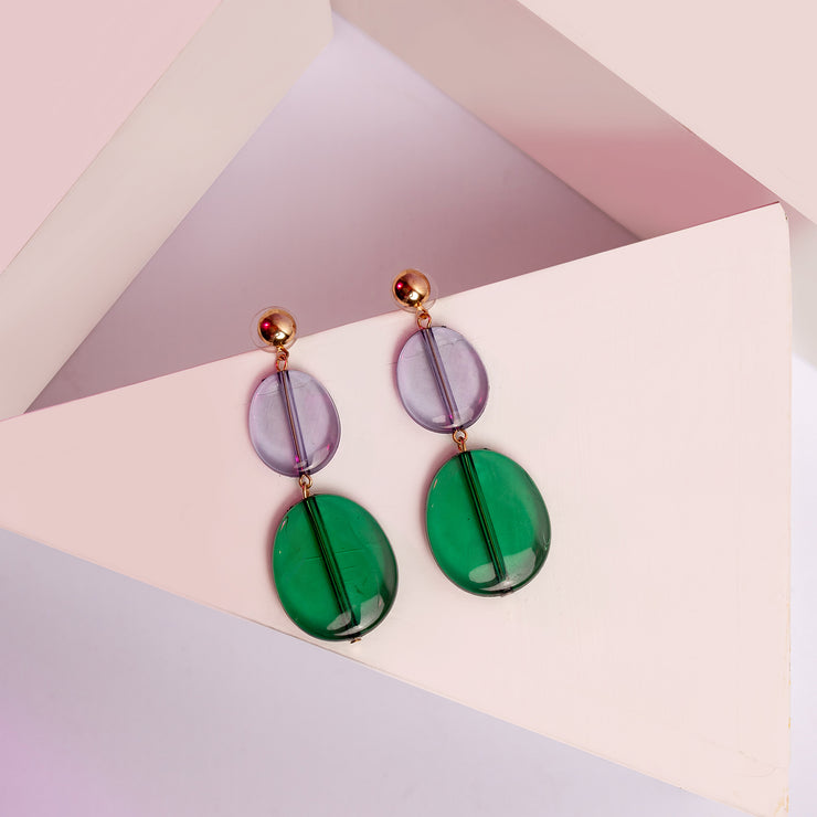 Crystal Green Earrings ER-150B