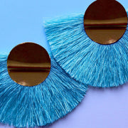 BLUE TASSELS EARRINGS ER-125