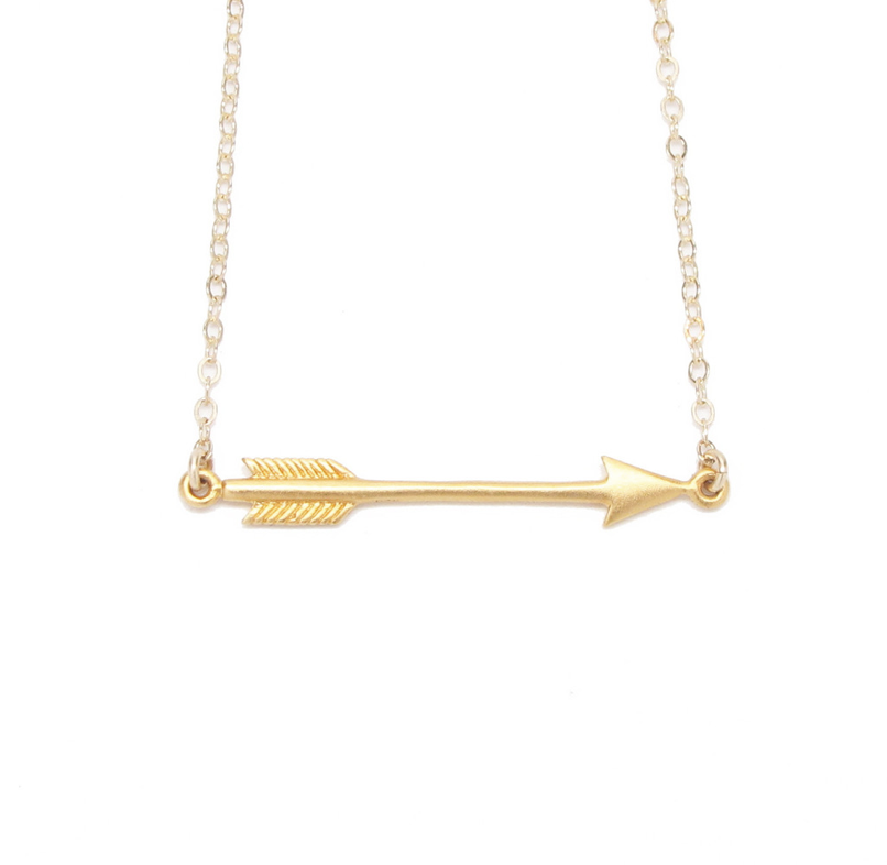 arrow products necklaces malin statement jewelry chloe necklace collections gold warrior in cate