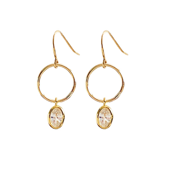 Hoop Earrings with CZ's