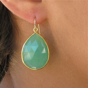 Large Emerald Drop Earrings